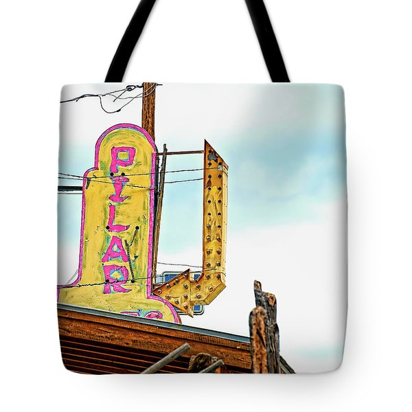 Pilar Cafe Sign Tote Bag