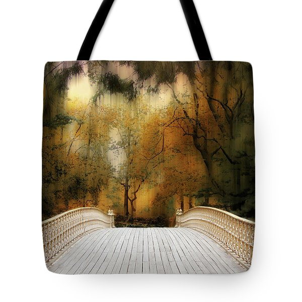 Pine Bank Arch In Autumn Tote Bag