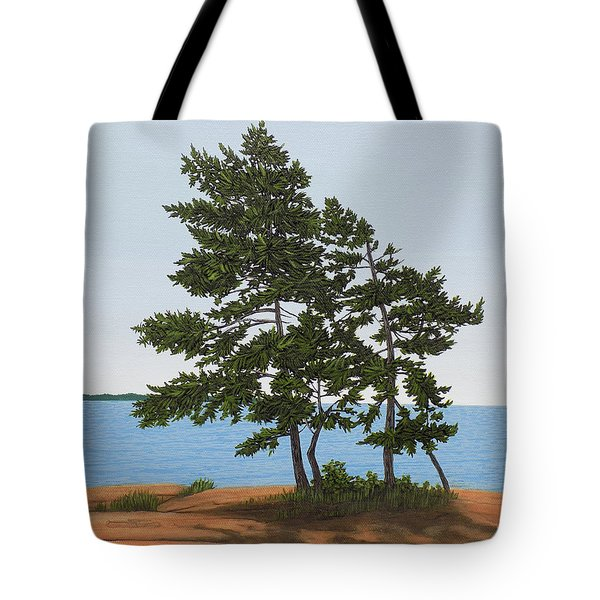 Pine On The Point Tote Bag