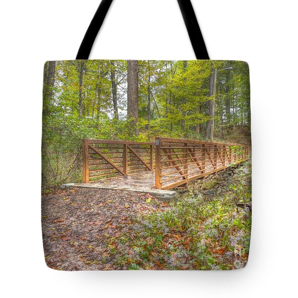 Pine Quarry Park Bridge Tote Bag