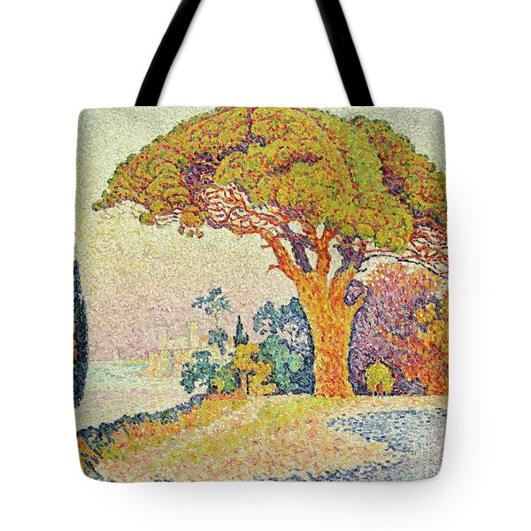 Pine Trees At Bertaud, Saint Tropez Provence Tote Bag