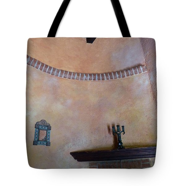 Tote Bag featuring the photograph Pink Adobe Wall by Rosanne Licciardi