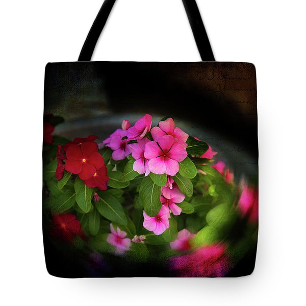 Tote Bag featuring the photograph Pink And Red by Milena Ilieva
