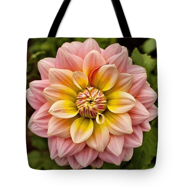 Pink And Yellow Tote Bag