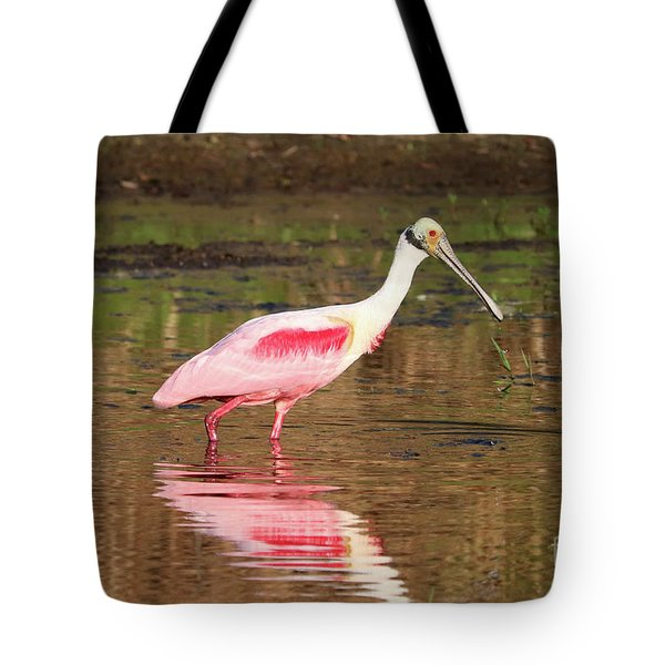 Pink Bird In The Marsh Tote Bag