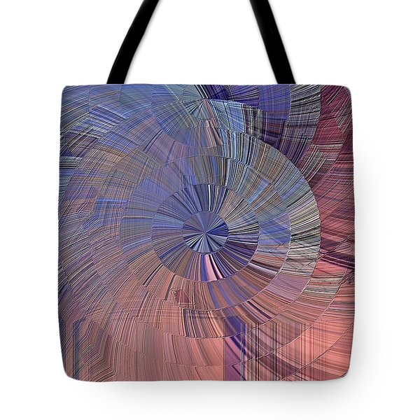Tote Bag featuring the digital art Pink, Blue And Purple by David Manlove