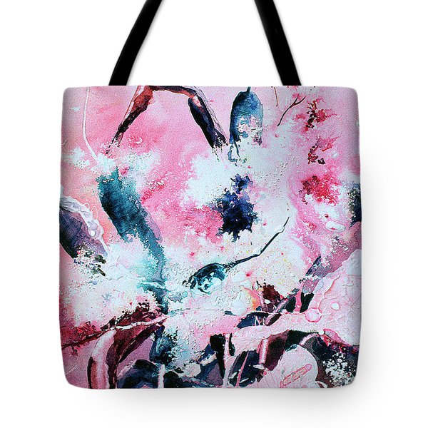Pink Cattails Tote Bag
