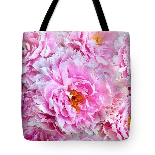 Pink Flowers Everywhere Tote Bag