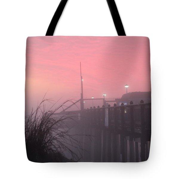 Pink Fog At Dawn Tote Bag