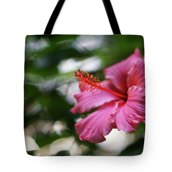 Tote Bag featuring the photograph Pink Hibiscus Flower by Pablo Avanzini