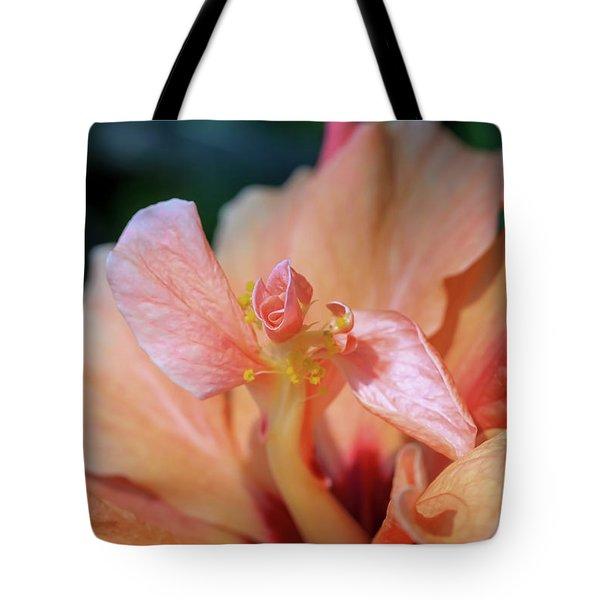 Pink Hibiscus Flower Tote Bag