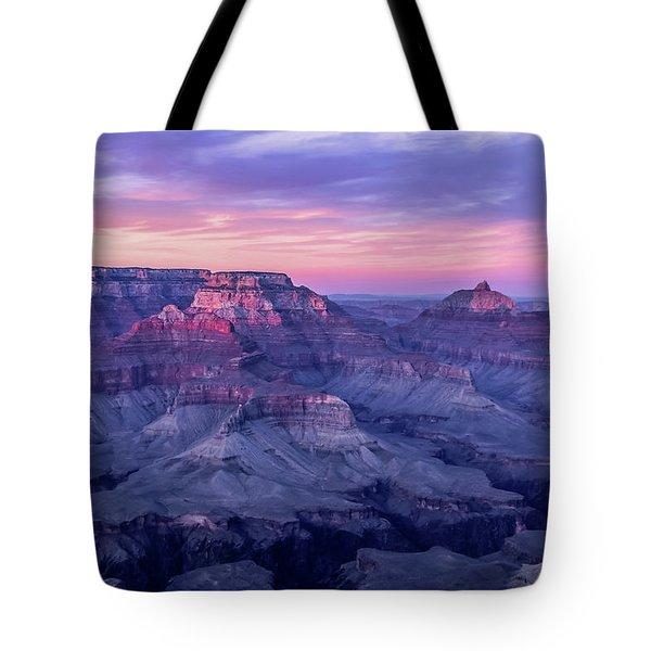 Pink Hues Over The Grand Canyon Tote Bag