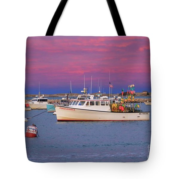 Pink In Plymouth Tote Bag