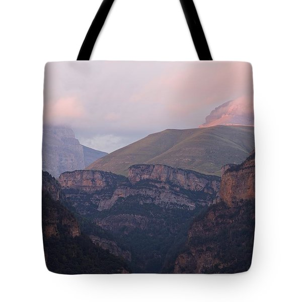 Pink Skies In The Anisclo Canyon Tote Bag