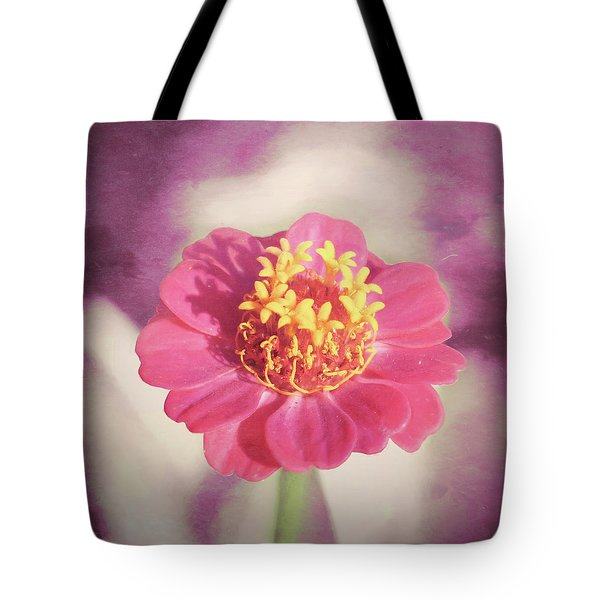 Pink Zinnia Isolated Tote Bag