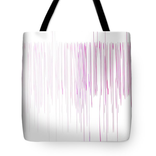 Tote Bag featuring the mixed media Pinked by Jessica Eli