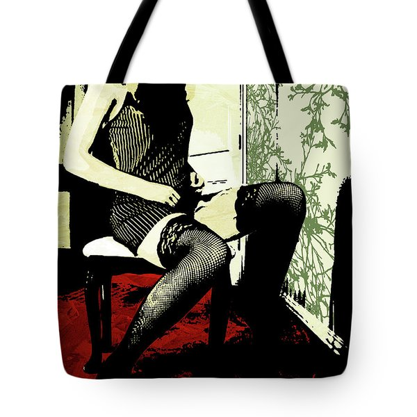 Pinstripes Tote Bag