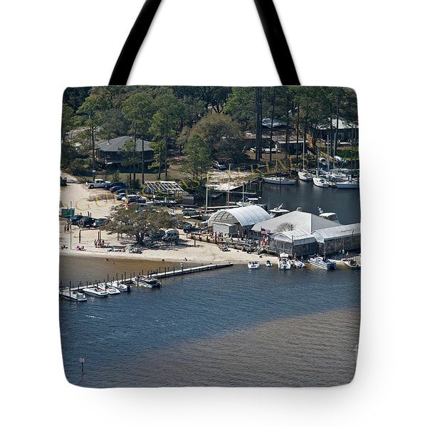 Tote Bag featuring the photograph Pirates Cove - Natural by Gulf Coast Aerials -