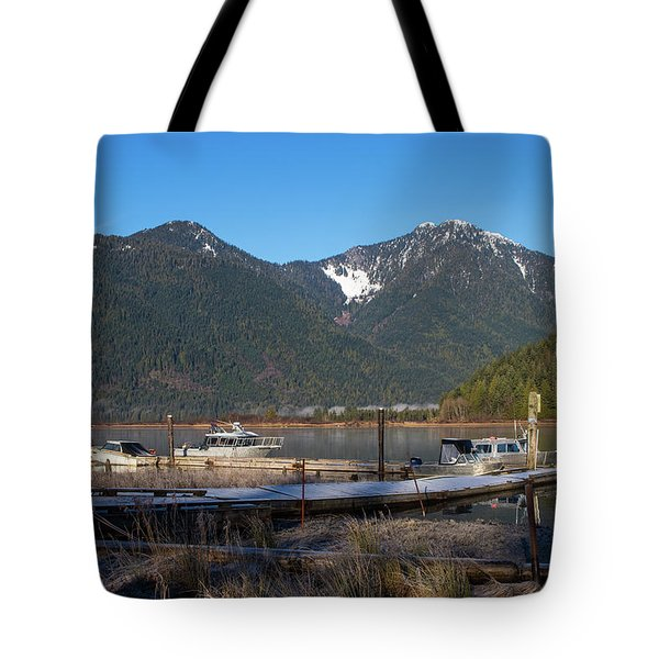 Pitt Lake Winterimpression Tote Bag