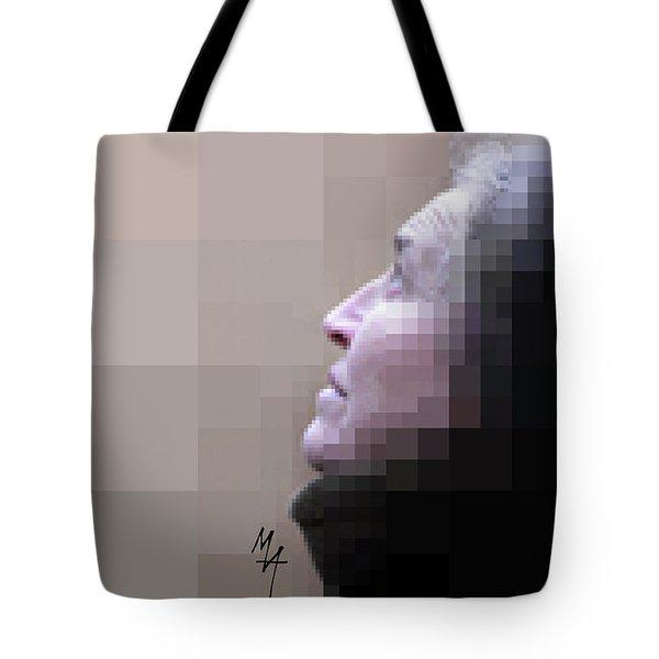 Pixel Portrait Tote Bag