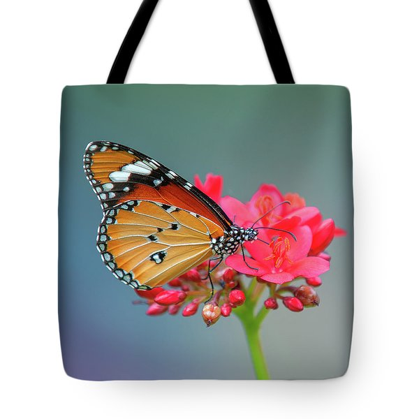 Plain Tiger Or African Monarch Butterfly Dthn0246 Tote Bag
