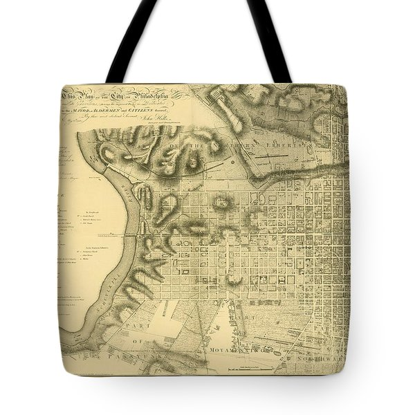 Plan Of The City Of Philadelphia And Its Environs Shewing The Improved Parts, 1796 Tote Bag