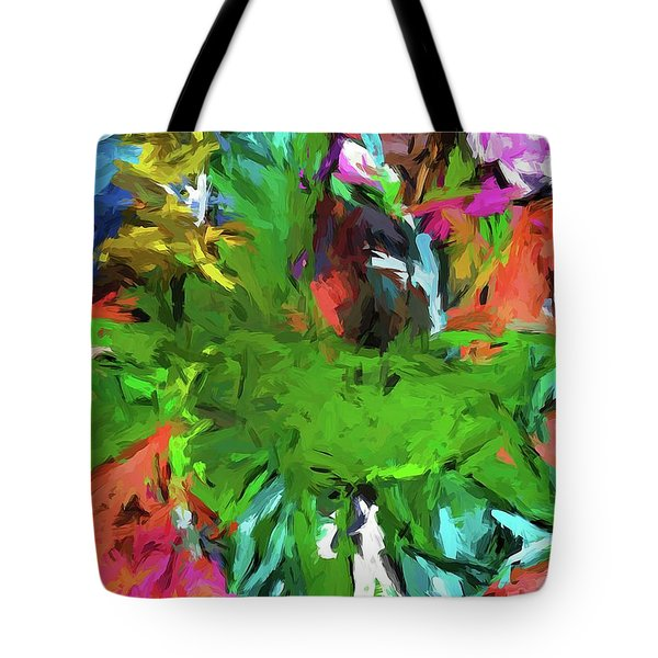 Plant With The Green And Turquoise Leaves Tote Bag