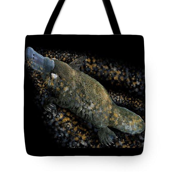 Platypus At Night Tote Bag