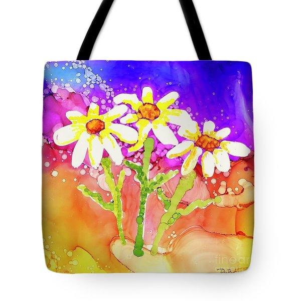 Playful Daisies Tote Bag
