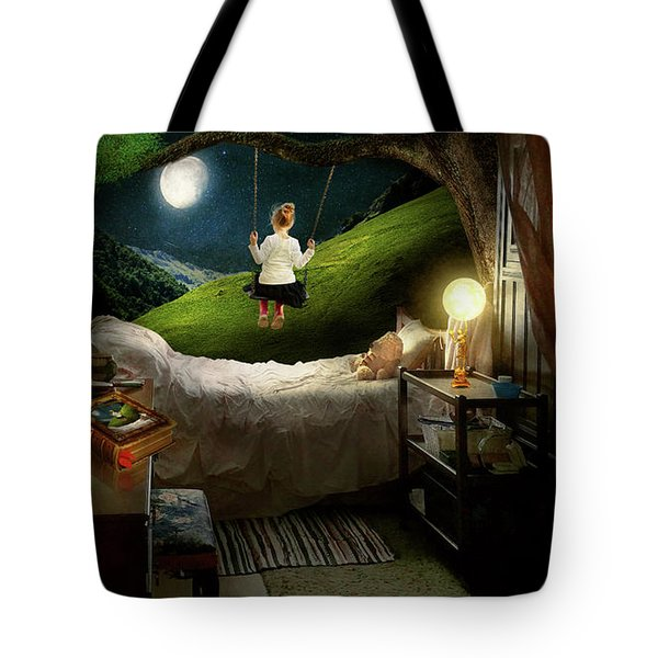 Tote Bag featuring the photograph Playing Inside by Mike Savad - Abbie Shores