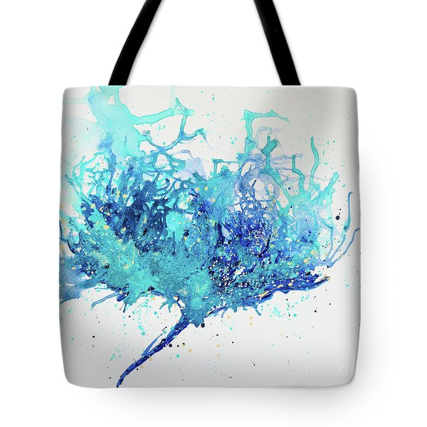 Tote Bag featuring the painting Please Talk To Me by Annie Young Arts