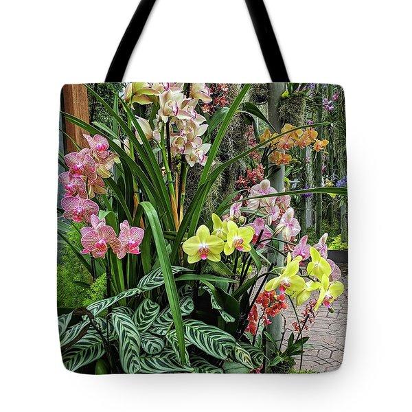 Plentiful Orchids Tote Bag