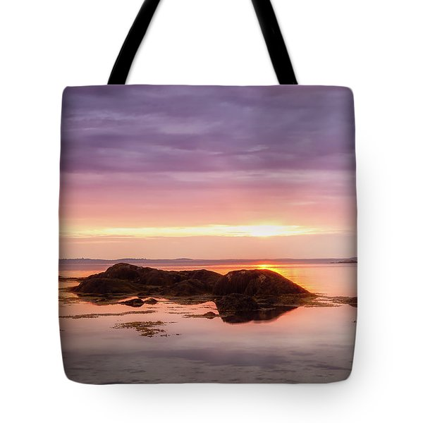 Tote Bag featuring the photograph Plum Cove Glow, Gloucester Ma. by Michael Hubley
