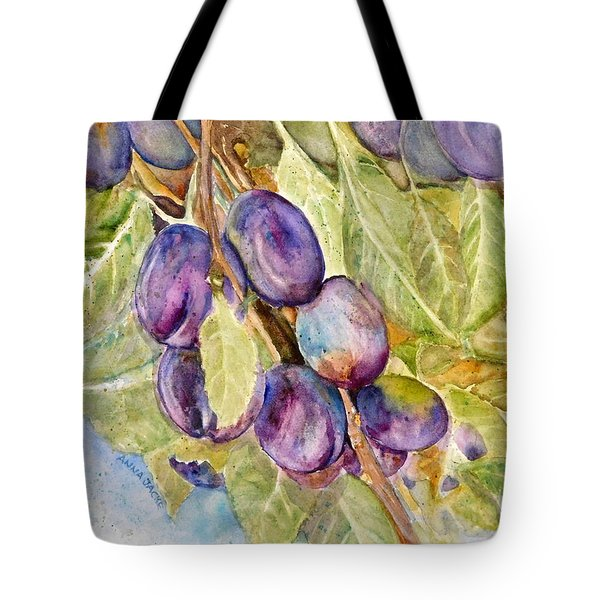 Plums On The Vine Tote Bag