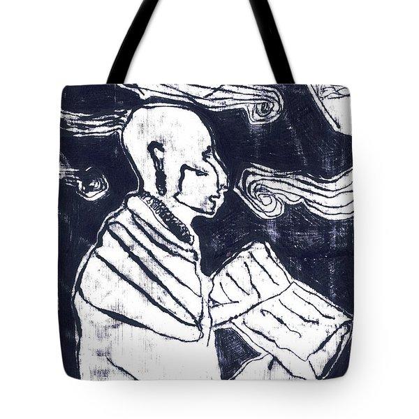 Poet Reading To Wind Clouds Otdv3 13 Tote Bag