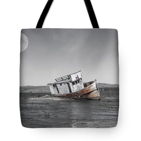 Point Reyes California Shipwreck Tote Bag