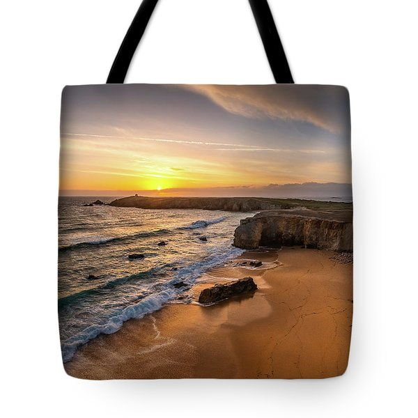 Pointe Du Percho And Port Blanc Tote Bag