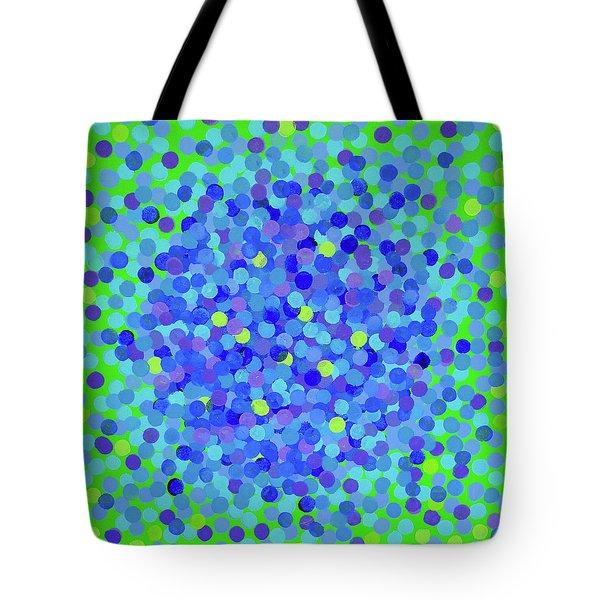 Pointillism 2.0 Hydrangea Tote Bag