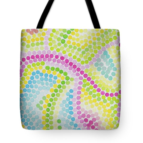 Pointillism - Palm Beach Pink And Green Tote Bag