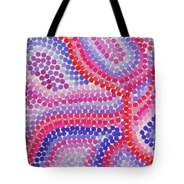 Pointillism - Red To Purple Tote Bag