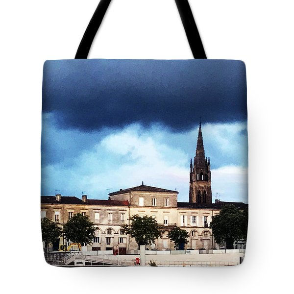 Poking The Storm Tote Bag