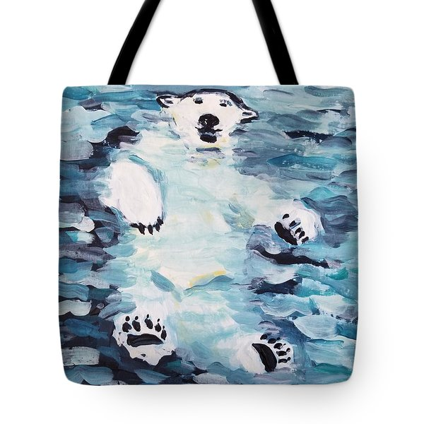 Tote Bag featuring the painting Polar Bear by Maria Langgle