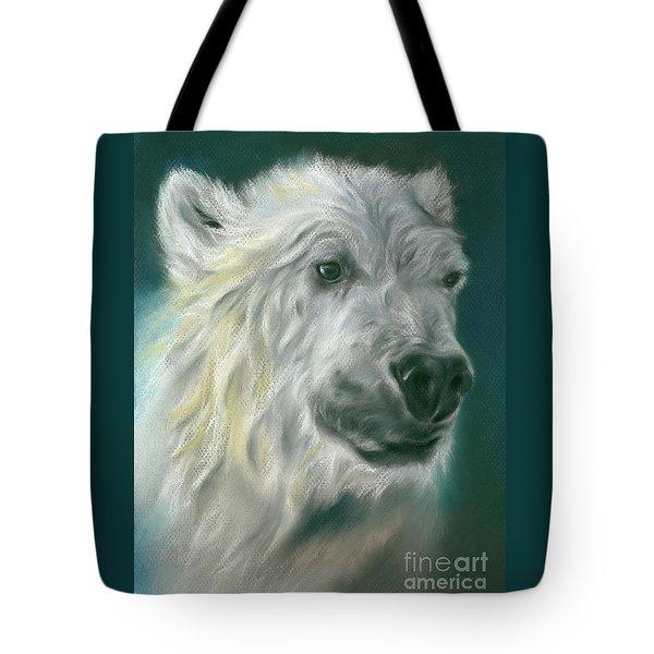 Polar Bear Portrait Tote Bag
