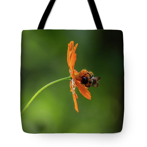 Tote Bag featuring the photograph Pollinating The Cosmos by Dale Kincaid