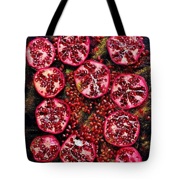 Pomegranate New Year Tote Bag