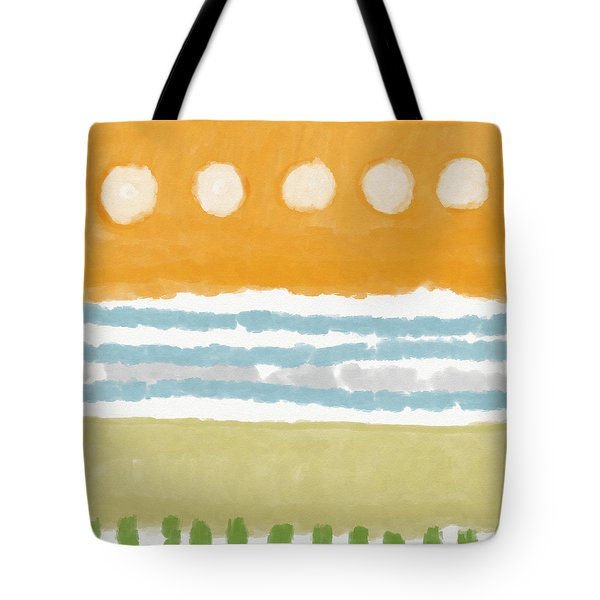 Poolside 2- Art By Linda Woods Tote Bag