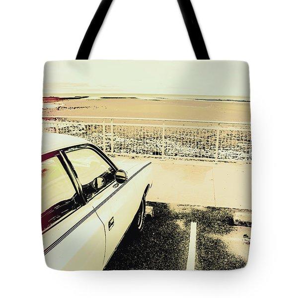 Pop Art Beach Carpark  Tote Bag