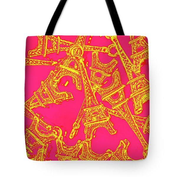 Pop Art Paris Tote Bag