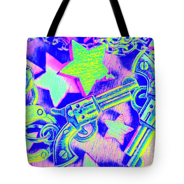 Pop Art Police Tote Bag
