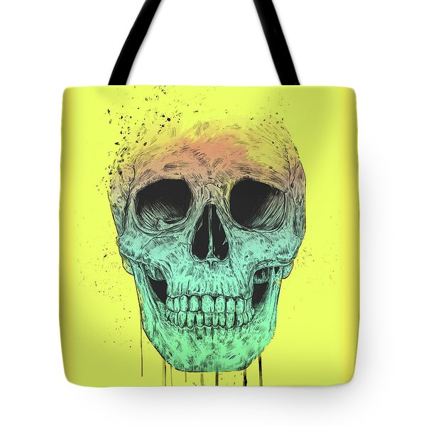 Pop Art Skull Tote Bag